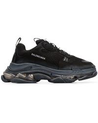 Balenciaga - Black Triple S Bubble Sneakers - Lyst