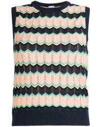 M Missoni - Sleeveless Jacquard Knit Sweater - Lyst