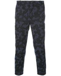 Neil Barrett - Camouflage Cropped Trousers - Lyst
