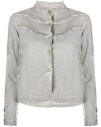 Transit - Raw Edge Fitted Jacket - Lyst