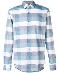 BOSS - Check Long-sleeve Shirt - Lyst