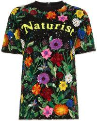 Ashish - Naturist Floral Sequin Embellished Top - Lyst