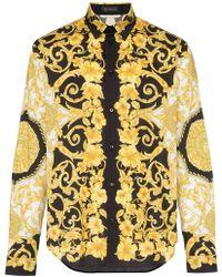 Versace - Camisa con estampado barroco - Lyst
