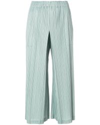 Pleats Please Issey Miyake - Cropped Pleated Trousers - Lyst