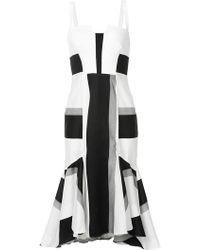 Kimora Lee Simmons - Striped Dress With Flare Hem - Lyst