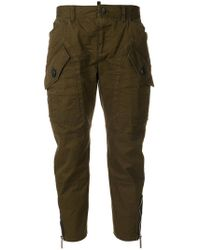 DSquared² - Cropped Cargo Trousers - Lyst