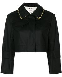 Dorothee Schumacher - Embellished Collar Cropped Jacket - Lyst