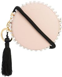 Mother Of Pearl - Small Circle Bag With Pearl Studs - Lyst