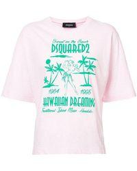 DSquared² - Hawaiian Dreaming Print T-shirt - Lyst