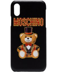 Moschino - Cabaret Teddy Bear Iphone X Cover - Lyst