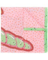 COACH - Floral Star Print Scarf - Lyst