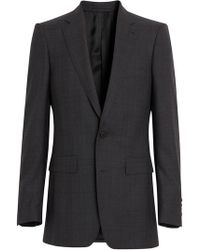 Burberry - Slim Fit Prince Of Wales Check Wool Silk Suit - Lyst