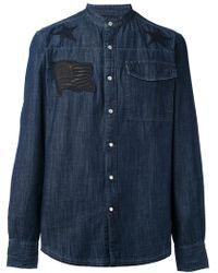 Hydrogen - Denim Appliqué Shirt - Lyst