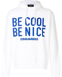 DSquared² - Be Cool Be Nice Sweatshirt - Lyst