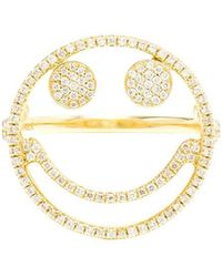 Rosa De La Cruz - Diamond Smiley Ring - Lyst