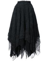 Marc Le Bihan - Floral Embroidered Asymmetric Skirt - Lyst