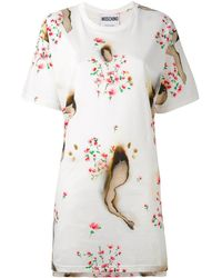 Moschino Burned Effect T-shirt Dress - Multicolour