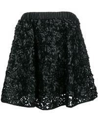 Twin Set - Floral Applique Skirt - Lyst
