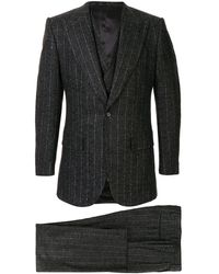 Dolce & Gabbana - Pin Stripe Three Piece Suit - Lyst