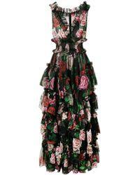 Dolce & Gabbana - Abendkleid mit Blumen-Print - Lyst