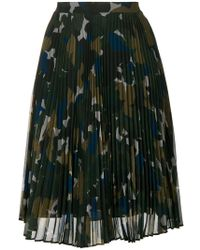 PS by Paul Smith - Pleated Camo Skirt - Lyst