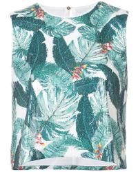 Rachel Zoe - Leaf Pattern Blouse - Lyst