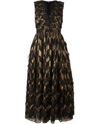 Dolce & Gabbana | Silk Colorblocked Trim A Line Dress | Lyst