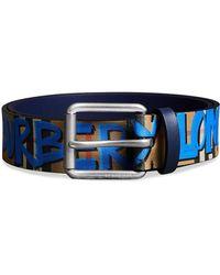 Burberry - Graffiti-print Check Belt - Lyst