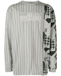Liam Hodges - X Fila Logo Patch Printed Sweatshirt - Lyst