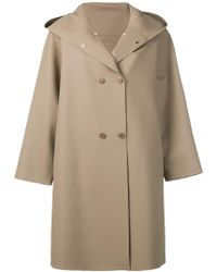Max Mara - Hooded Double-breasted Coat - Lyst