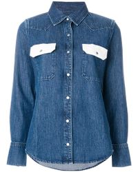 Calvin Klein Jeans | Western Lean Contrast Denim Shirt | Lyst