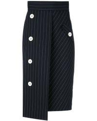 Dorothee Schumacher | Oversized Buttons Pinstripe Skirt | Lyst