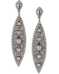 Loree Rodkin - Diamond Tear Drop Earrings - Lyst