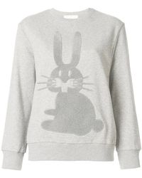 Peter Jensen - Embroidered Rabbit Sweatshirt - Lyst