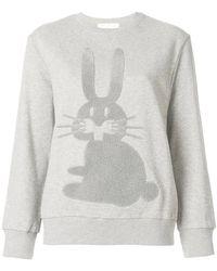 Peter Jensen - Embroidered Rabbit Sweatshirt - Lyst