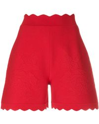 Alexander McQueen - Scalloped Hem Shorts - Lyst