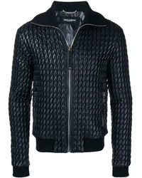 Dolce & Gabbana - Padded Leather Jacket - Lyst