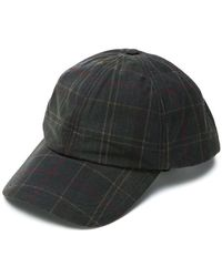 Barbour - Checked Baseball Cap - Lyst