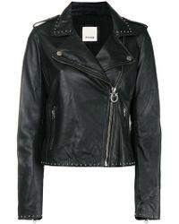 Pinko - Studded Biker Jacket - Lyst