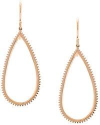 Eva Fehren - 18k Rose Gold Earrings With Bevel Detail - Lyst