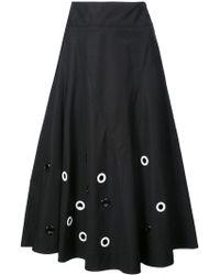 Derek Lam - Embroidered Flare Skirt - Lyst