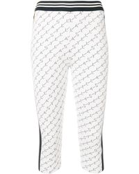 Stella McCartney Branded Cropped leggings - White