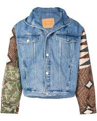 Martine Rose - Contrasting Sleeve Denim Jacket - Lyst