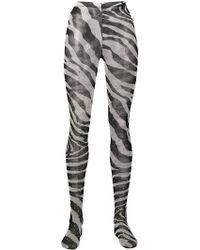 Dolce & Gabbana - Zebra Print Tights - Lyst