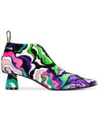 Emilio Pucci - Multi Swirl Ankle Boot - Lyst