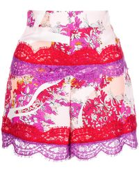 Emilio Pucci - Floral Lace Fitted Shorts - Lyst