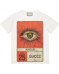Gucci - Amour Eye Print T-shirt - Lyst