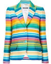 Moschino - Striped Formal Blazer - Lyst