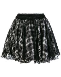 Redemption - Checked Mini Skirt - Lyst