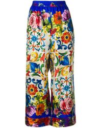 Dolce & Gabbana - Floral Pattern Trousers - Lyst